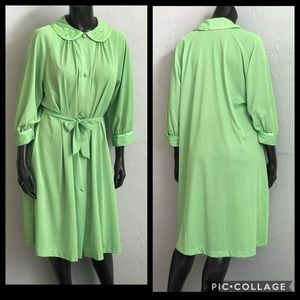 Vintage 1950s Dress Nightgown dressing gown 1960s